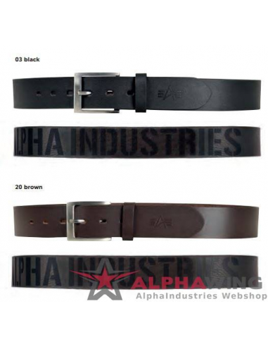 Embossed Alpha Belt