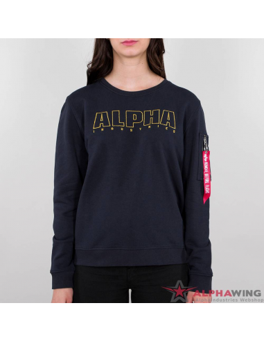 Alpha Embroidery Sweater Wmn